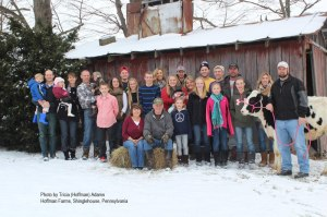 3 generations of the Hoffman family operate the 700-cow dairy.