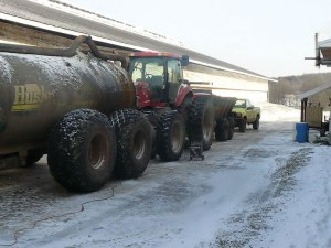 Starting equipment and dealing with manure were difficult in double-digit below zero weather, not to mention the wind chill.