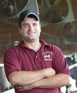 Zach Meck pictured here at Meck Brothers Dairy in Berks County, Pennsylvania in August of 2012